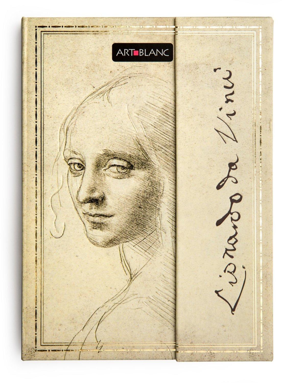 "Art-Blanc Leonardo Da Vinci - Hardcover Ruled Journal Notebook: 6.6x4.8"" / 17x12 cm"