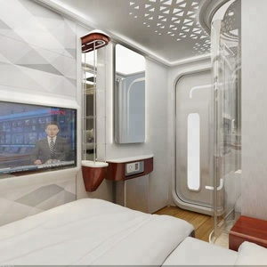 Modularly decorated compact and luxurious mini smart hotel standard single bed room