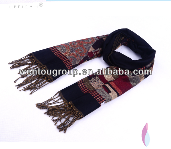 Acrylic Knitted Winter Scarf Jacquard Patterns Scarves