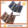 PU leather long zipper purse button custom wallets