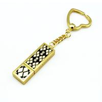 custom gold keyring usb flash drive