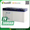 Bluesun deep cycle agm battery 2v/3000ah for solar system power storage