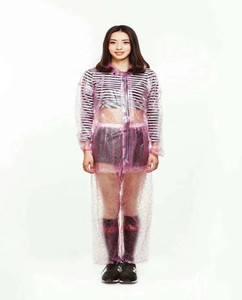 KM OEM waterproof transparent plastic raincoat fetish