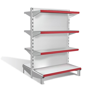 Light Duty used store metal shelf with supermarket shelf label