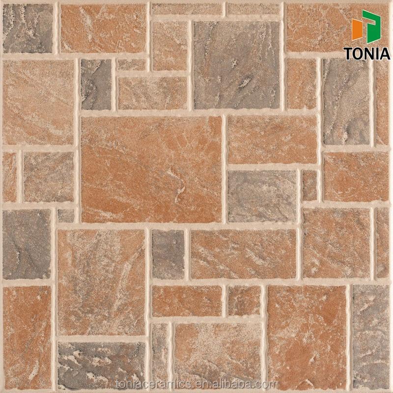 Brown Flower Ceramic Floor Tiles Royal Ceramic Tiles 16inch Ceramic