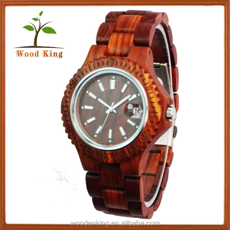 Manufacturers Selling 2017 New Fashion Movement Electronic Luminous Japan Men Wooden Watch Manufacturer