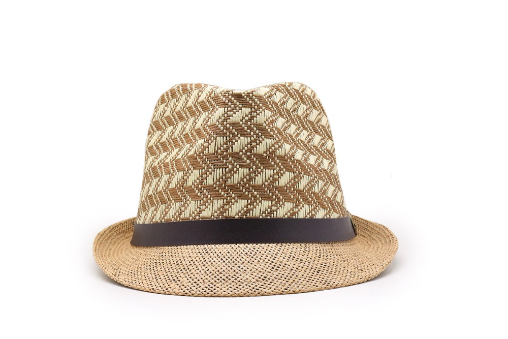 Fashion Summer Casual Unisex Beach Trilby Large Brim Jazz Sun Hat Panama Hat Paper Straw Women Men Cap With Black Ribbon