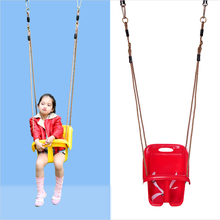 Hot Kids Lovely Outdoor Red Pe Plastic Plug In Baby High Back Swing Chair For