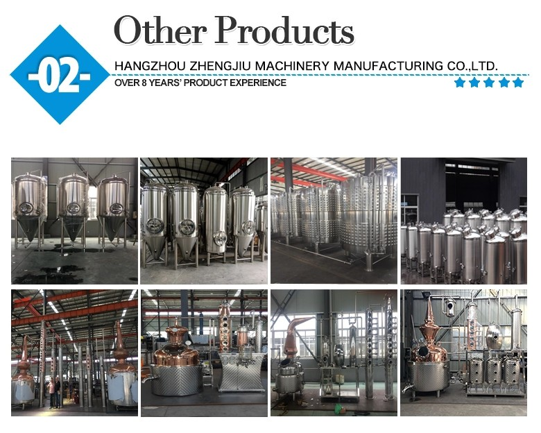 Stainless Steel Jacketed Bright Beer Tank brewing equipment