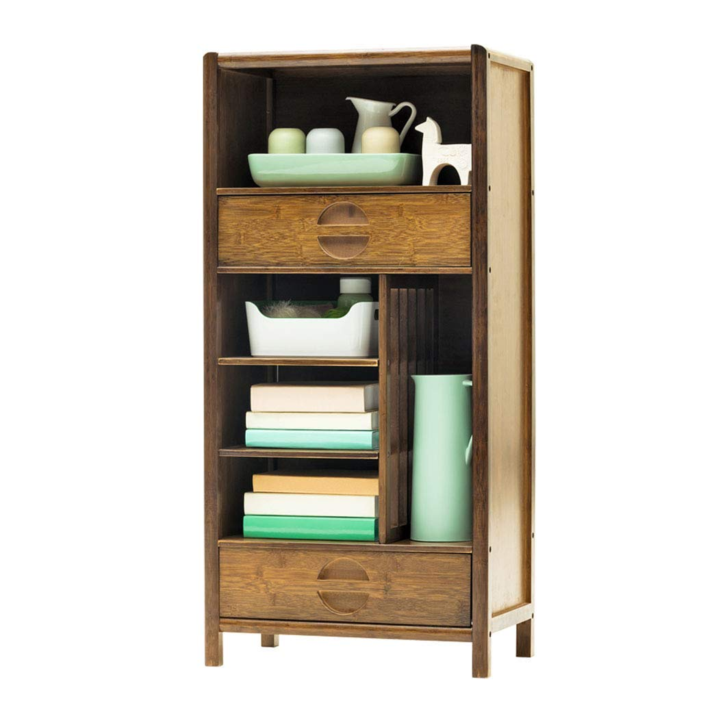 Bookcases Bookshelf Shelf Solid Wood Multi-Layer Storage Locker Living Room Display Stand (Color : Brown, Size : 5333112cm)