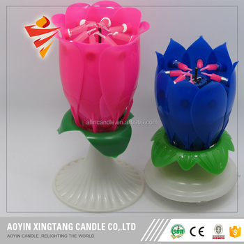 Best Happy Birthday Songs Flower Musical Candles