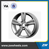 ZW-B265 17 inch alloy wheels rims for car, pcd 5x114.3