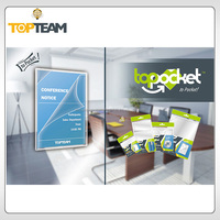 TOPTEAM TOPPOCKET PVC Self-adhesive Corner Pockets-S, Clear Adheisve Label,Business Card holder