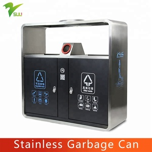 Morden Innovative Stainless Steel Waste Bins Ashtray Trash Can Perforated Garbage Bin