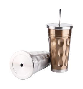 China Factory ECO friendly Stainless Steel Straw Tumbler Coffee Mug Tumbler With Lid