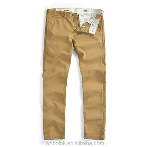 Custom factory New style mens leisure chino pants cotton twill chinos