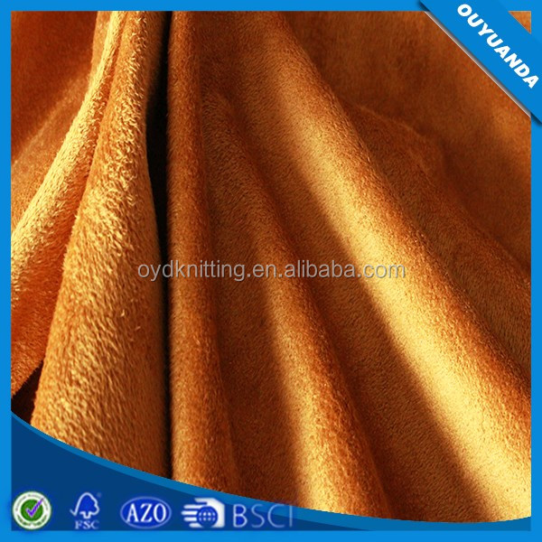 100% Polyester Warp Knitted Suede Fabric Fashion Textile Shoes/Dress/Bag/Sofa Suede Fabric