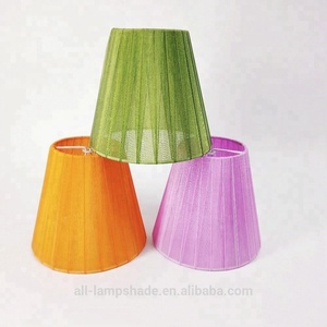 colorful mini voile chandelier lampshade
