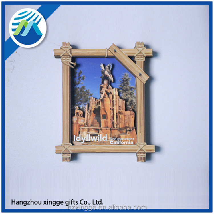 Best Quality 3D Layered Wooden Fridge Magnet