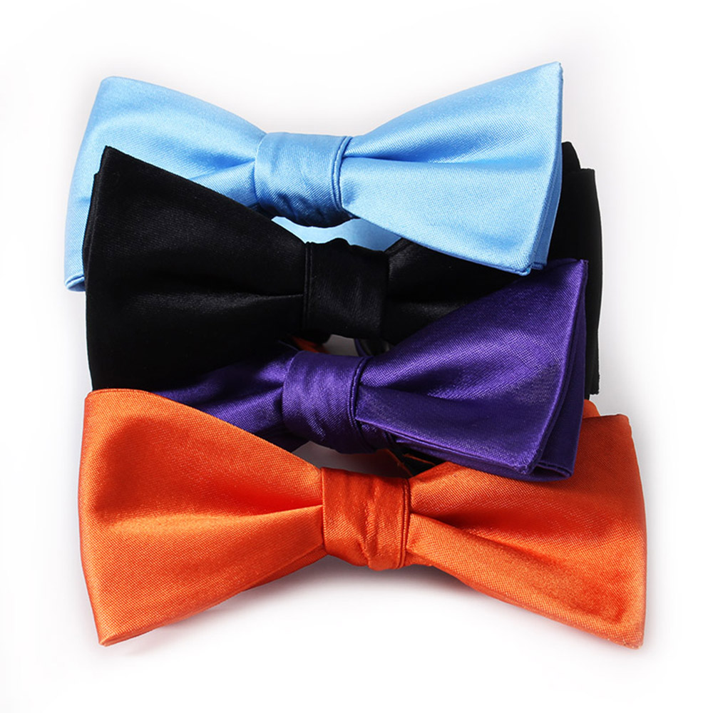 High Quality Fashion Jacquard Satin Self Bowties
