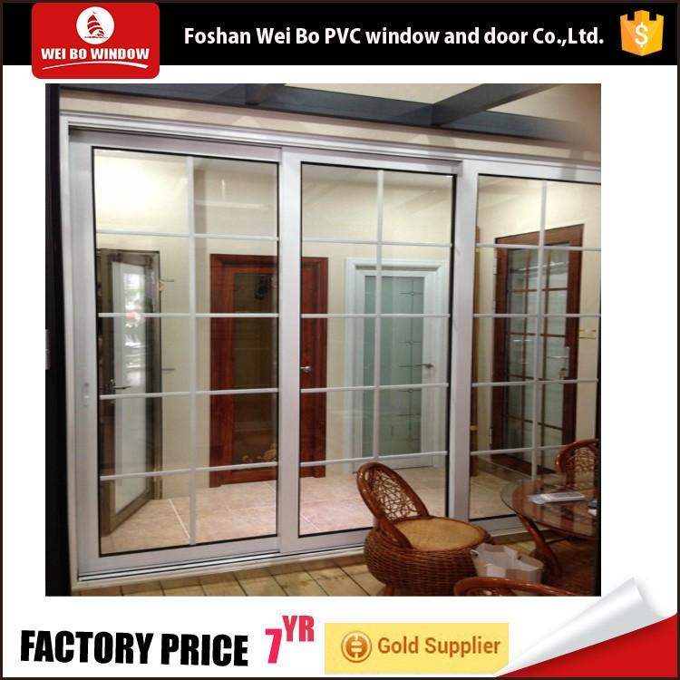 Simple Iron Window Grill Design Double Glass Interior Door