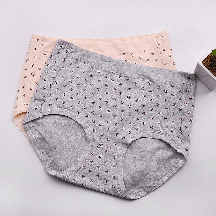 8e695e79d471e Plus Size Gordura Lingerie Roupa Interior Das Mulheres Transparentes  Japonês Calcinhas de Cintura Alta