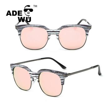 d13d7e55b0 ADE WU 2017 marca nuevo diseño de madera del grano medio marco polarizado  gafas de sol