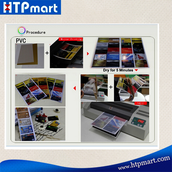 Hot Selling A4 Size Pvc Id Name Card Material Inkjet Printing No ...