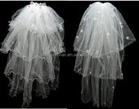 New Tulle Lace Fabric Veils Wedding Cheap Bridal Wedding Veils