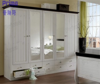 Bedroom closet wood built in wardrobe cabinet with sliding - Armoire de chambre ...