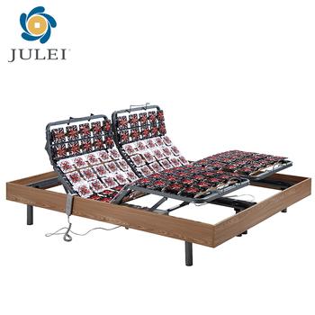 European Style Motor Electric Adjustable Bed Wood Frame King Size