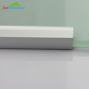 For glass shelf light surface mounted aluminum LED profile 8mm aluminum heat sink bar
