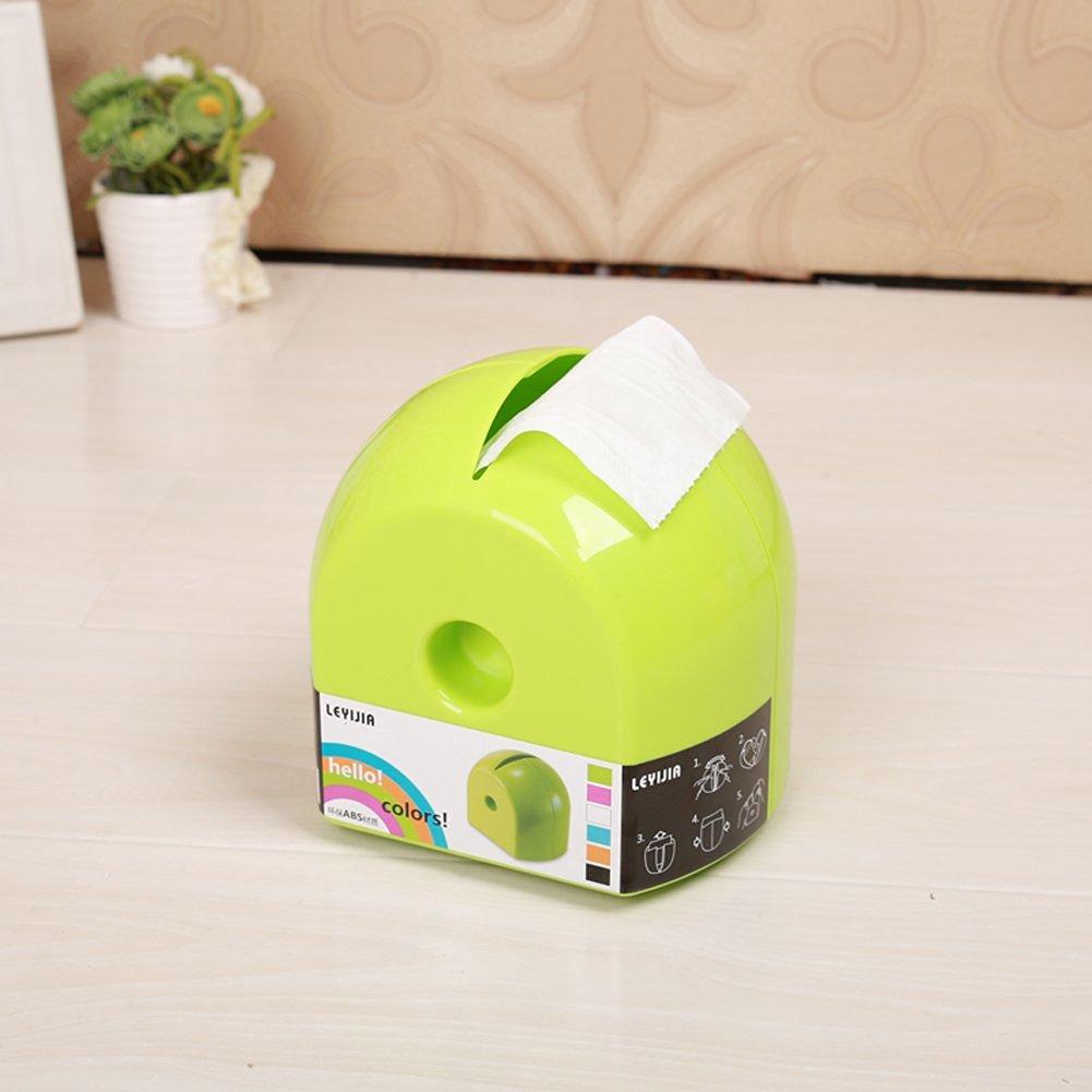 Lovely Bathroom Tissue Boxes Napkin Holder Roll Paper Plastic funny Tissue Box Cover ( Green)