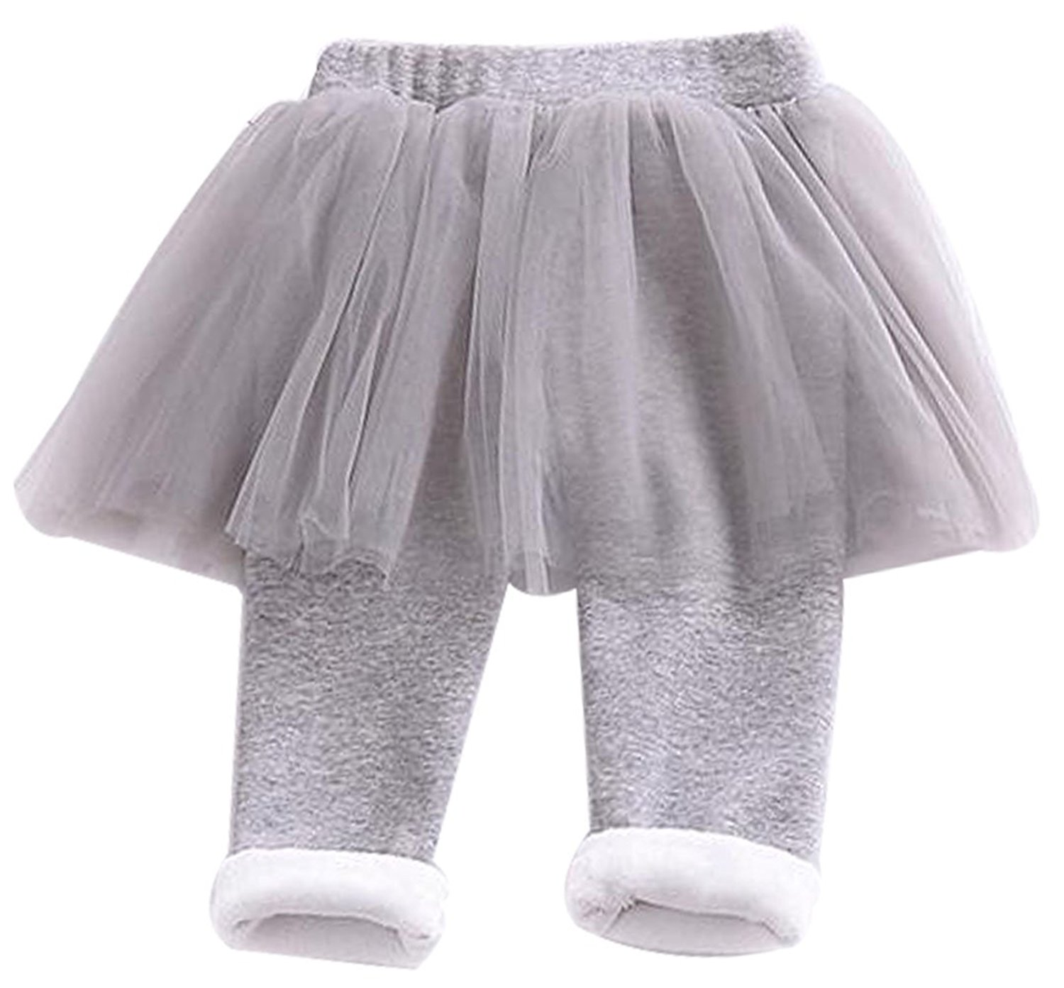 a33ff358e Get Quotations · LOTUCY Kids Baby Girls Warm Fleece Tulle Patchwork Tutu  Skirts Pants Winter Warm Legging Tight