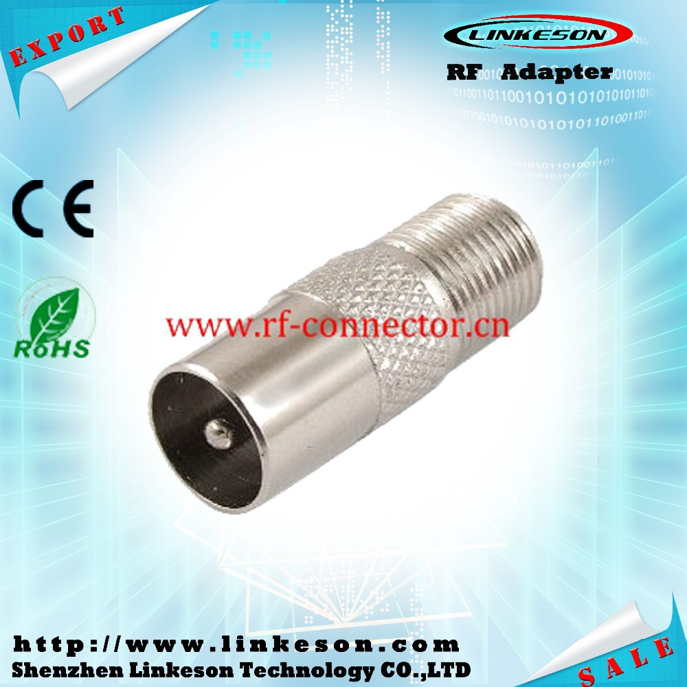 Competitive price RF adapter F female to TV male connector