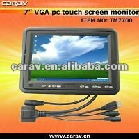 "rearview lcd hdmi input car monitor with 7"" touchscreen"