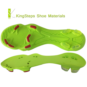 8517ff7906cd outsole for Ladies football boots green color soccer shoe outer soles  making in jinjiang factory KSGS