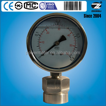 4 Inch Full Stainless Steel Diaphragm Pressure Gauge Certified By Ce Iso  Cmc - Buy Diaphragm Pressure Gauge,Stainless Steel Diaphragm Pressure