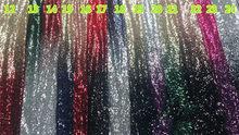 Градиент цвета зеленый розовый красный золотой черный блесток ткань стрейч спандекс вышитые сетки африканские Кружева блесток ткань для п...(Китай)