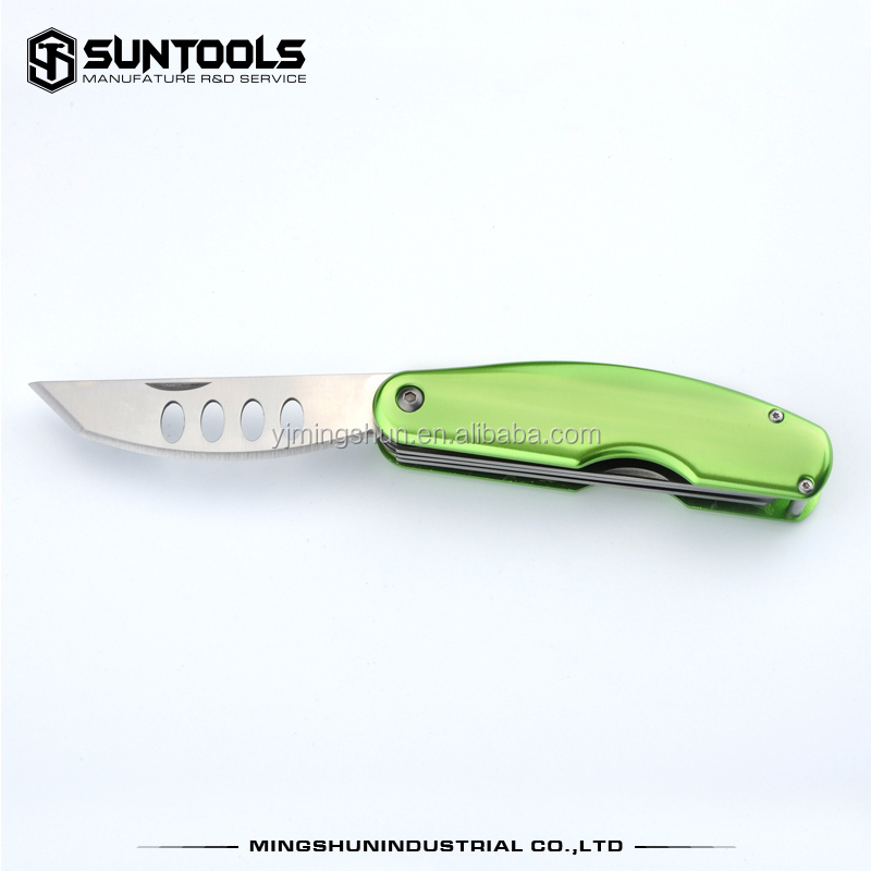 Sophisticated technology ! S/S folding blade type multi function camping table knife
