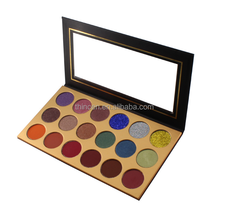 No Brand Wholesale Makeup Glitter Eyeshadow Palette 18 Color Glitter