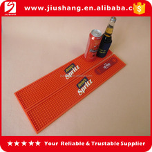 pvc beer drip bar mat with drinking logo