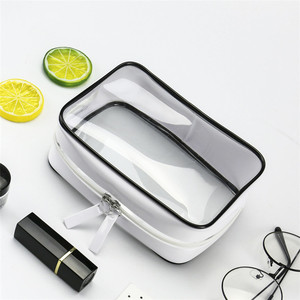 2018 hot sale makeup pouch transparent PVC Organizer Toiletry bag clear cosmetic bag