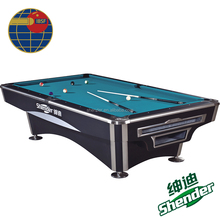 9ft Shender Wise pool billiard table for Asian Games with ball return nine ball table
