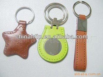 Customized popular leather auto key chains
