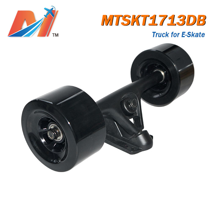 Maytech electric longboard double drive truck with longboard dc motor hall sensors with belt for off road e skateboard