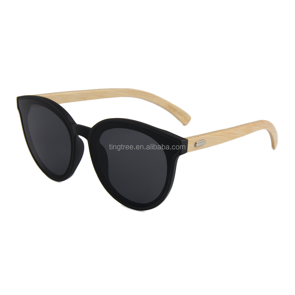 Hot selling low price style eyes flat lens bamboo sunglasses new style фото