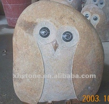 Garden Ornaments River Stone Mini Owl Carvings Carved Chest Buy