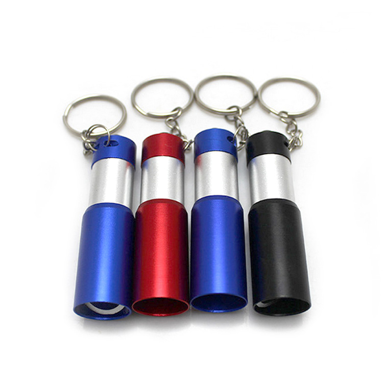 Custom aluminum alloy flashlight keychain bottle opener