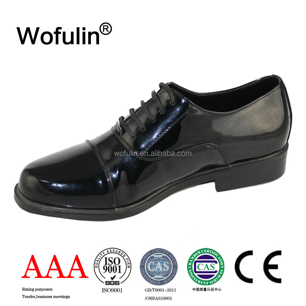 Top Brand Men Leather Shoe Police Office Uniform Shoes Good Price Real For Mens